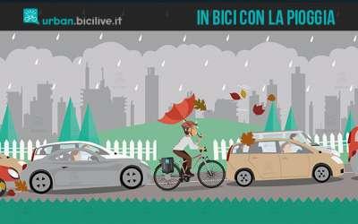 consigli e suggerimenti per andare in bici quando piove