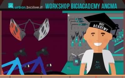 negozioante di bici dopo il workshop bici academy ancma