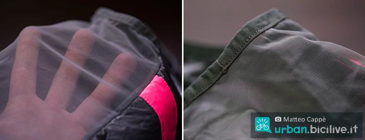 tessuto mesh del gilet da ciclismo rapha brevet insulated