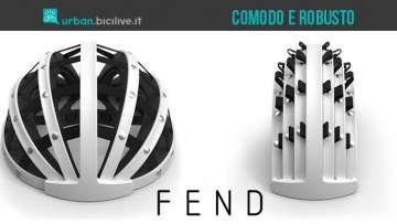 Il casco pieghevole per ciclisti di città Fend