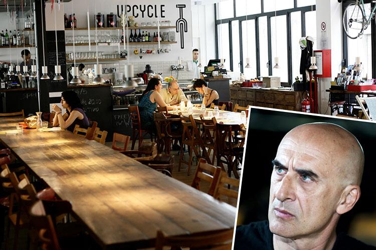 Roberto Peia fondatore dell'Upcycle Bike Cafè di Milano