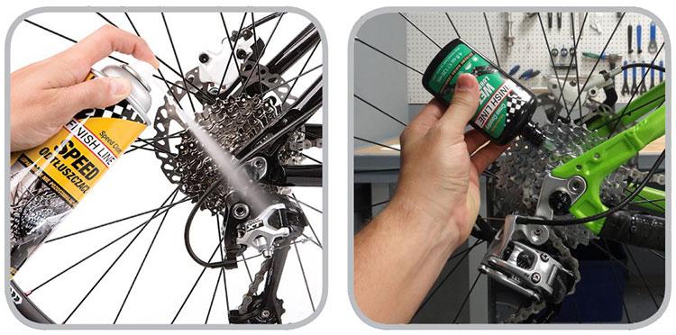 Sgrassare e lubrificare i componenti della bicicletta