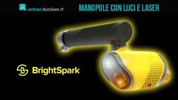 Manopole bici Brightspark con luci, vibrazione e laser