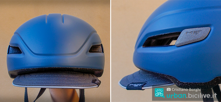 visiera in tessuto del casco met corso