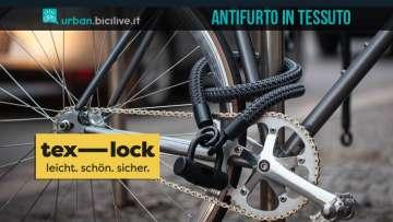 text lock antifurto catena bici in tessuto