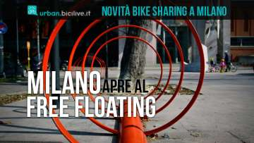rastrelliere per il bike sharing free floating a milano