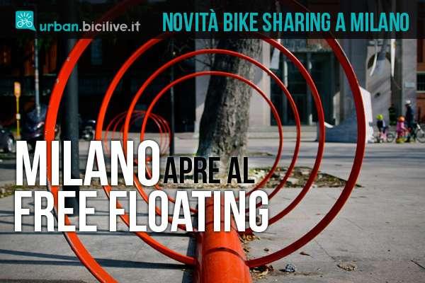 rastrelliere per il bike sharing free floating a milano