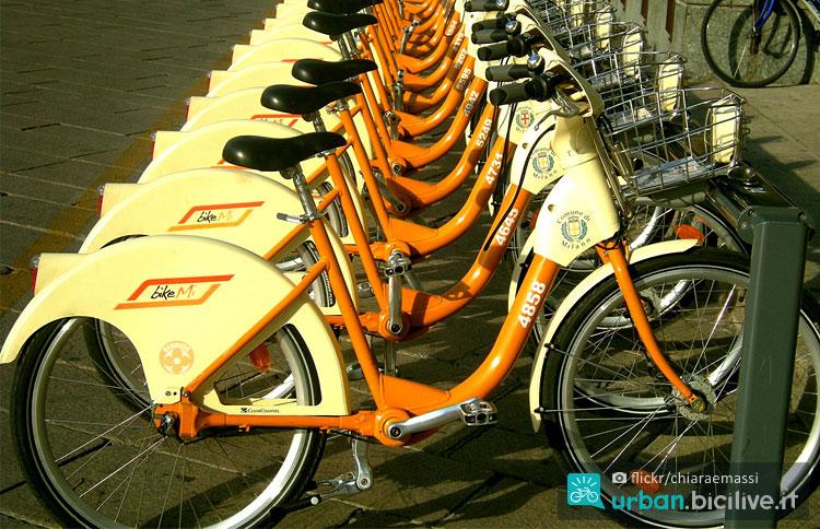 bici di bikeme a Milano