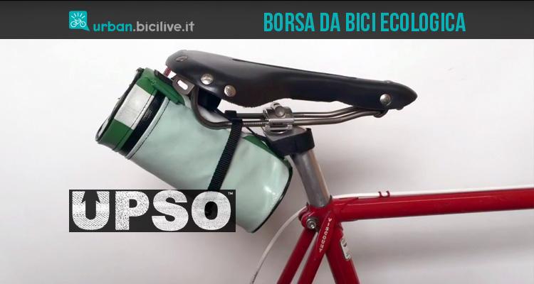 upsp borsa da bici ecologica