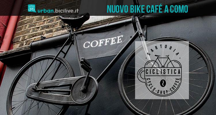 insegna di un bike café a como
