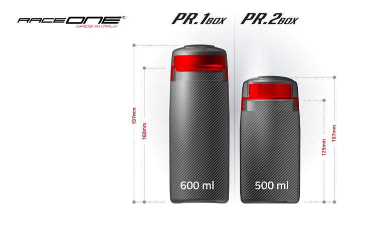 Le dimensioni dei porta oggetti PR1 e PR2 Box di Raceone
