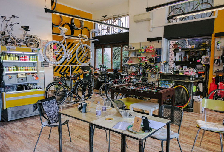 REcicli bike café a Milano