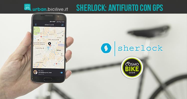 sherlock antifurto bici con gps