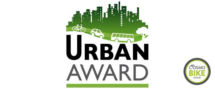 Il logo dell'Urban Award patrocinato dalla fiera CosmoBike Show