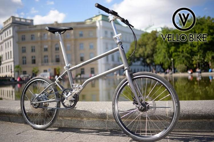 Una bicicletta pieghevole elettrica Vello Bike+