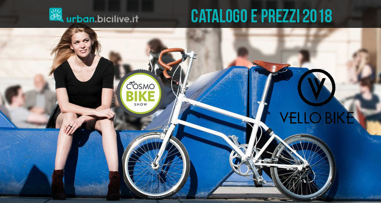 Bici pieghevoli Vello Bike catalogo e listino prezzi 2018