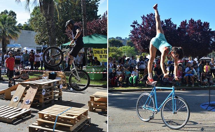 spettacoli di trial e circo al napoli bike festival