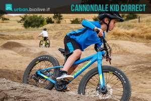 linea di bici da bambini kid correct di cannondale