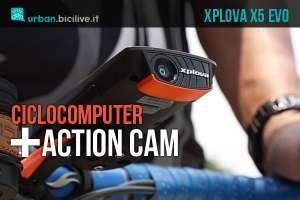 ciclocomputer gps con action cam xplova x5