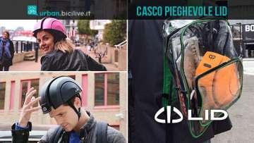 ciclisti urban con il casco pieghevole LID