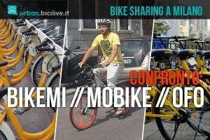 bici bikemi ofo e mobike a confronto