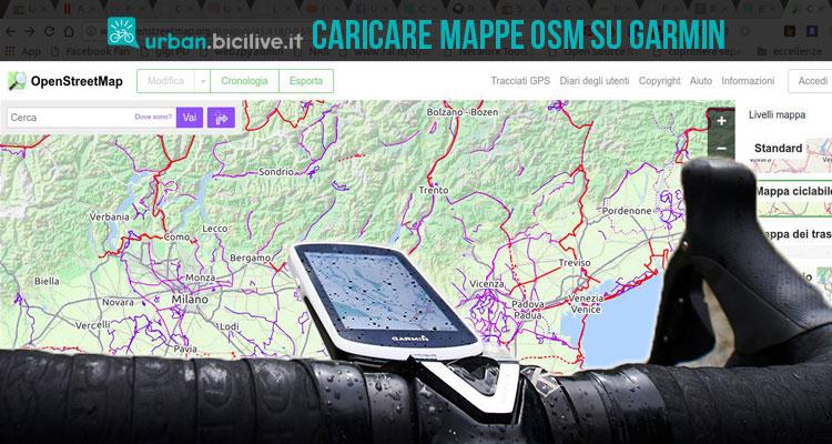 dispositivo gps garmin con mappe osm caricate