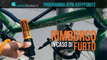 bicicletta legata con kryptonite contro il furto