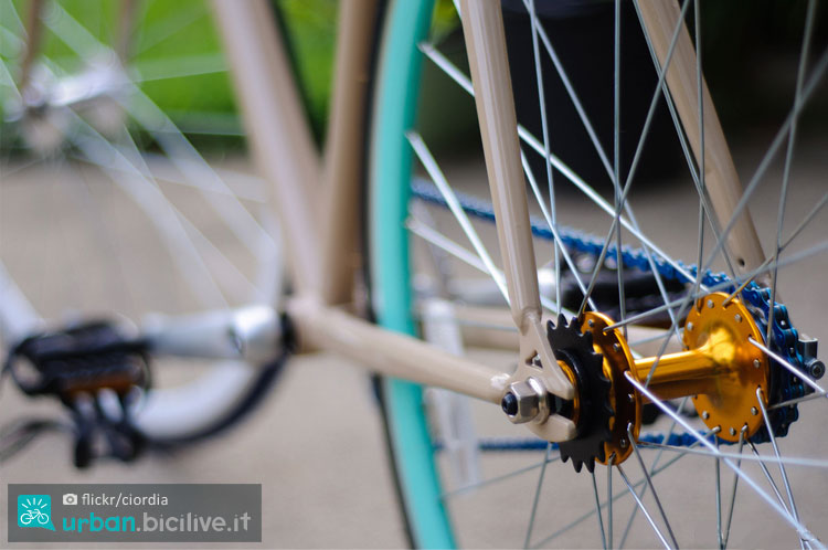 macro sui dettagli di una bicicletta