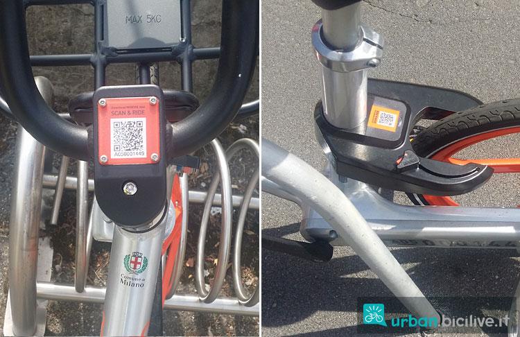 codice QR di una bicicletta del bike sharing