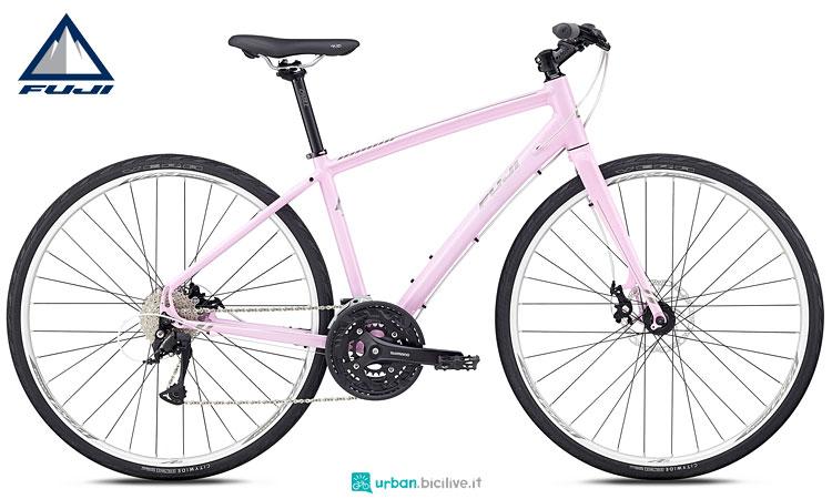 bicicletta donna rosa fuji 2018