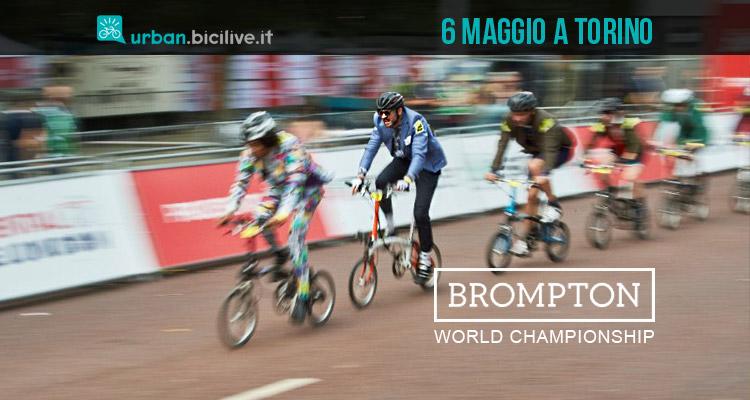 ciclisti impegnati nella Brompton World Championship