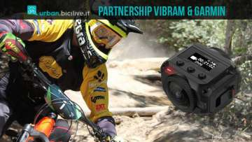 atleta del Team Vibram e action cam Garmin