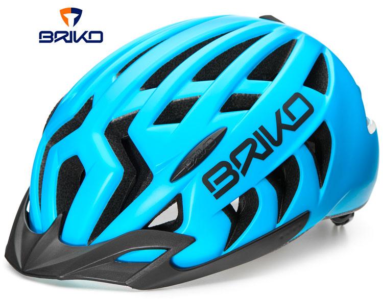 Il casco Briko Aries Sport in azzurro