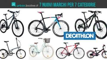 7 tipologie di bici Decathlon che avranno un loro brand