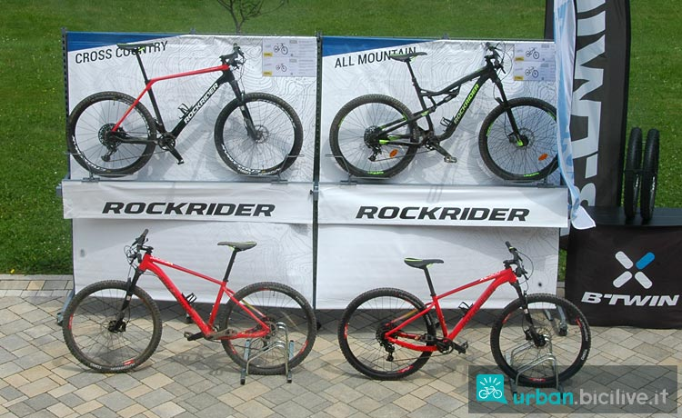 mountain bike Rockrider delle diverse categorie