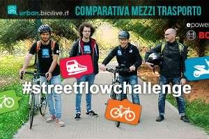 partecipanti alla sfida sul mezzo di trasporto più veloce in città