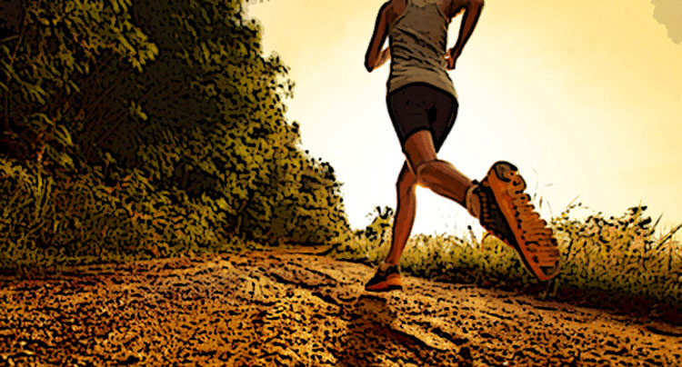 Una sportiva che corre nella Natura