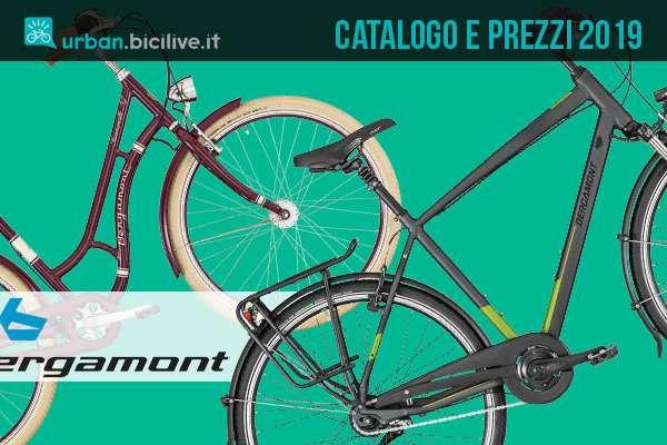 city bike dal catalogo e listino urban Bergamont 2019