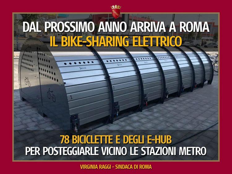 bike sharing elettrico a Roma