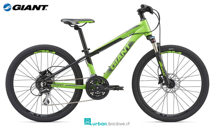 Una mountain bike per ragazzini Giant XTC SL Jr 24 2019