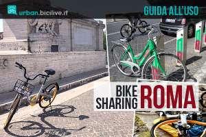 biciclette del bike sharing a Roma