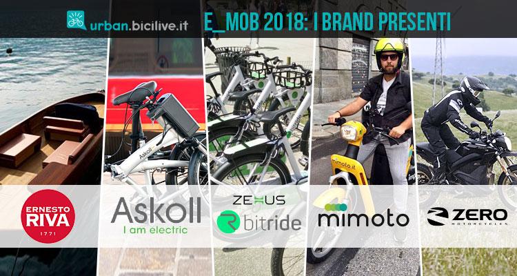 I brand presenti a e_mob 2018