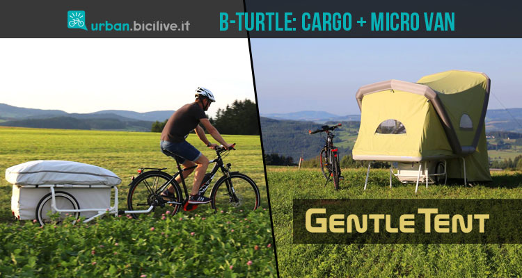 cargo bike con micro van GentleTent B-Turtle