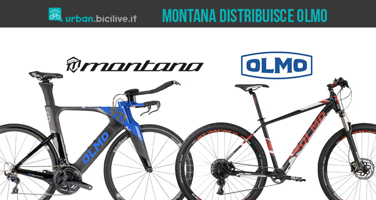 Montana distribuisce le biciclette Olmo