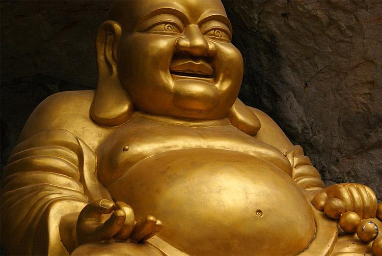 Buddha nella versione grassa
