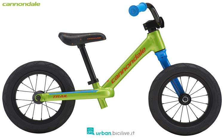 Una bici senza pedali Cannondale Kids Trail Balance 2019