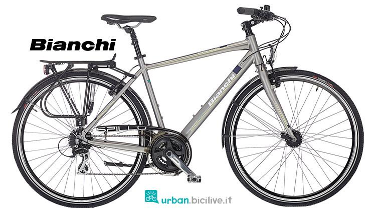 bici da cicloturismo Bianchi Spillo Topazio 2019