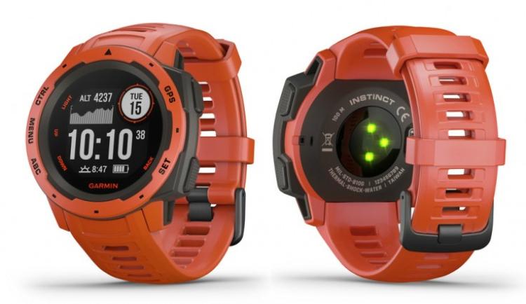 smartwatch GPS Garmin Instinct Flame Red