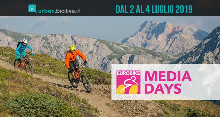 Eurobike Media Days dal 2 al 4 luglio 2019