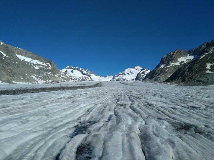 Il ghiacciaio dell'Aletsch in Svizzera
